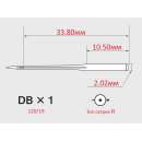 Иглы ORGAN DBX1 №120/19  с тонкой колбой для универсальных швейных машин