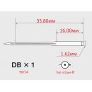 Иглы ORGAN DBx1 №90/14 с тонкой колбой для универсальных швейных машин