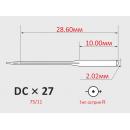 Иглы ORGAN DCx27 №75/11 для оверлока
