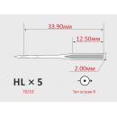 Иглы ORGAN HLx5 №70/10  для бытовых швейных машин