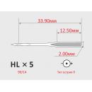 Иглы ORGAN HLx5 №90/14   для бытовых швейных машин