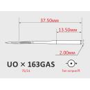 Иглы ORGAN UOx163 №75/11 для многоигольных поясных машин двойного цепного стежка