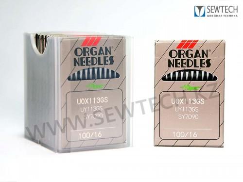 Иглы ORGAN UOx113GAS №100/16 для многоигольных поясных машин двойного цепного стежка